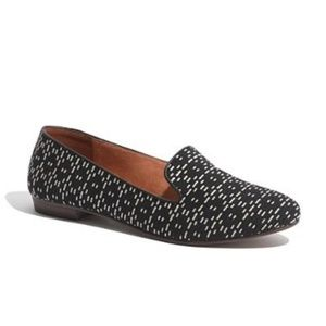 madewell leather stitch slip on loafer